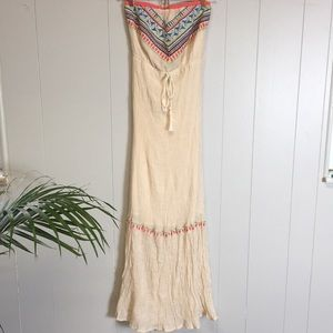 Flying Tomato Strapless Maxi Dress Size XS